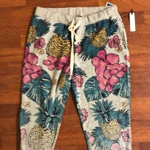 NWT Printed Tropical Joggers
